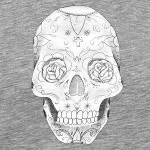 skull with roses in eyes - Men's Premium T-Shirt