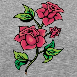red_roses_with_thorns - Men's Premium T-Shirt