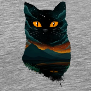 black cat T Shirt - Men's Premium T-Shirt