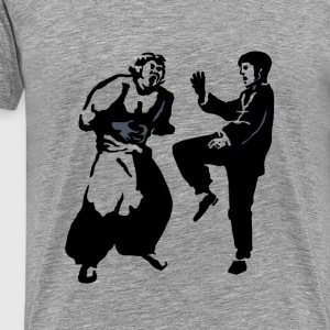 Bruce lee FIGHTING - Men's Premium T-Shirt