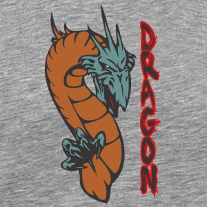 dragon_with_long_neck_colored - Men's Premium T-Shirt