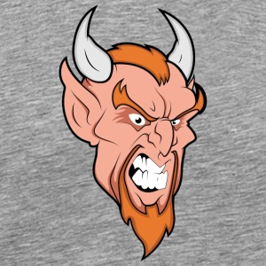 angry_devil_with_horns - Men's Premium T-Shirt