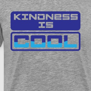 Kindness Is Cool Graphic Tee Shirt - Men's Premium T-Shirt