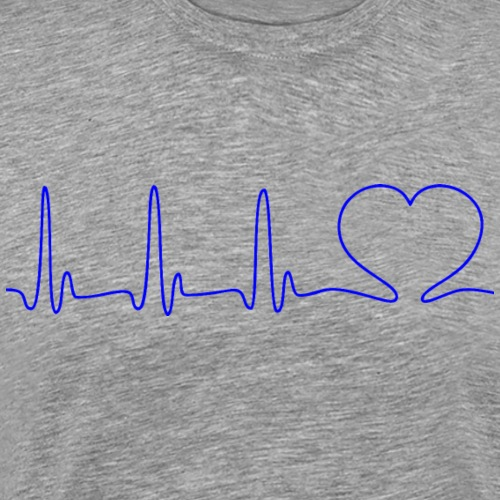 EKG HEARTBEAT blue - Men's Premium T-Shirt