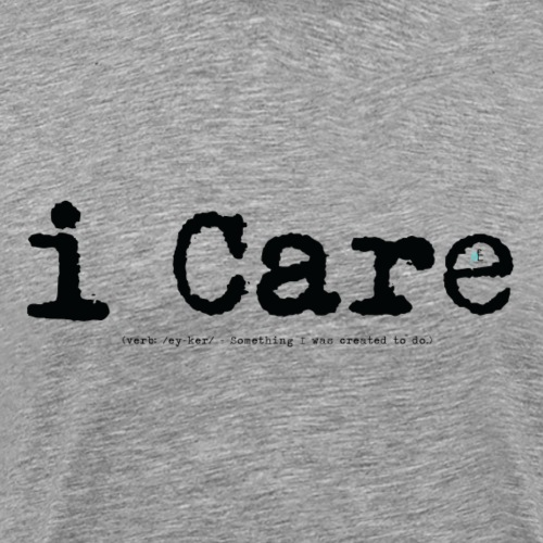 i Care blk - Men's Premium T-Shirt
