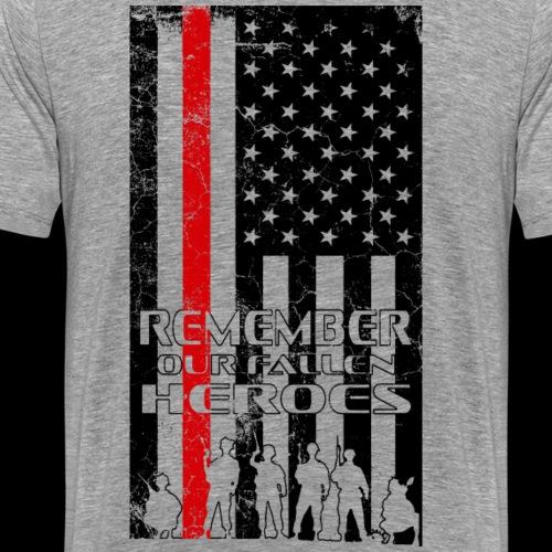 Remember our fallen heroes US troop memorial tee - Men's Premium T-Shirt