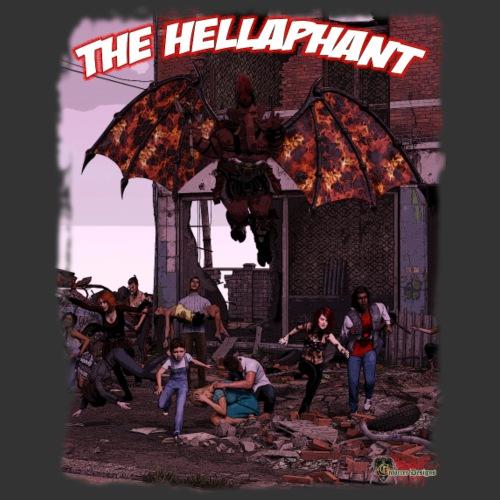 The Hellaphant Full Scene - Men's Premium T-Shirt