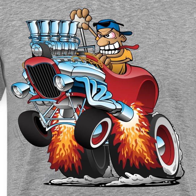 Highboy Hot Rod Race Car Cartoon