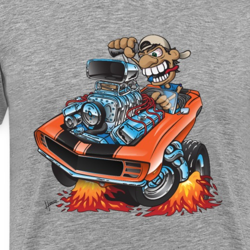 Classic 69 Muscle Car Cartoon - Men's Premium T-Shirt