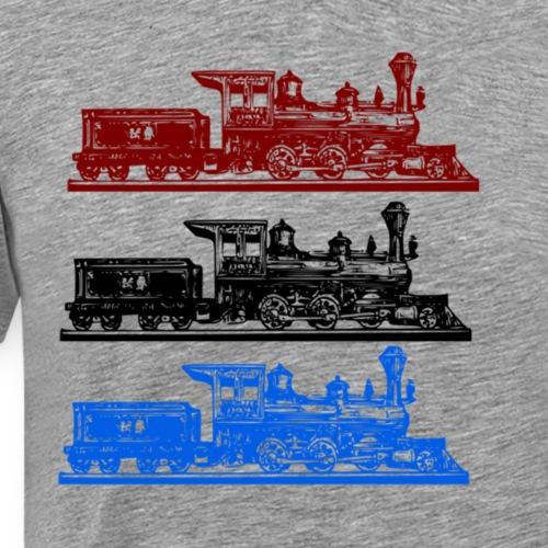 3 Steam Trains - Men's Premium T-Shirt