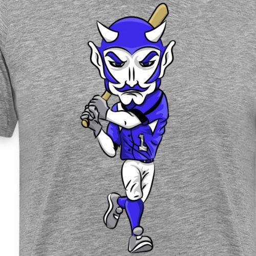 Blue Devils Mascot Baseball - Men's Premium T-Shirt