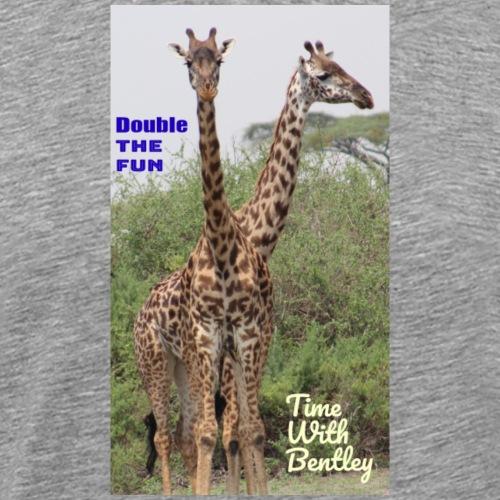 Two Headed Giraffe - Men's Premium T-Shirt