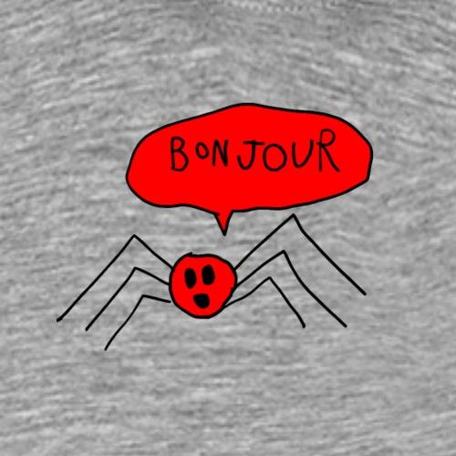 Bonjour Spider, Black Outline (tshirts) - Men's Premium T-Shirt