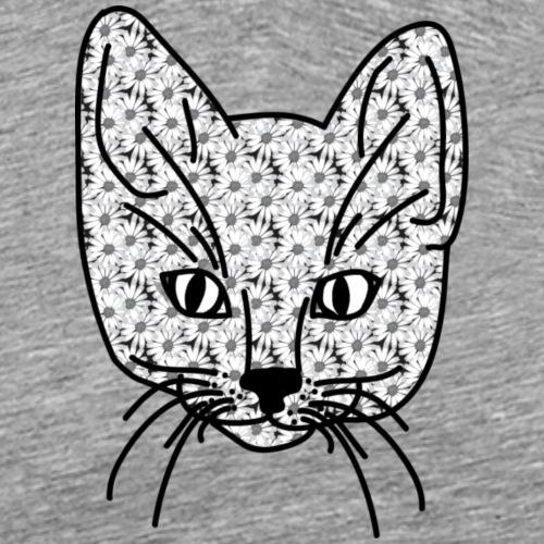 White Daisy Kitten - Men's Premium T-Shirt