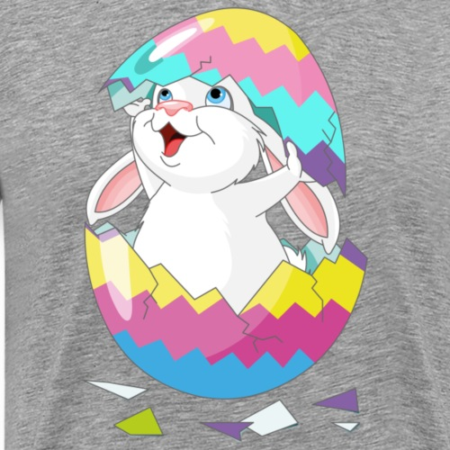 Easter Bunny in Egg, Easter egg hatches bunny - Men's Premium T-Shirt