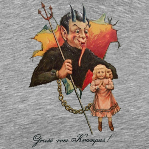 Krampus Breaks Through - Men's Premium T-Shirt