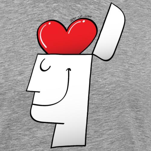 A Heart in my Head - Men's Premium T-Shirt