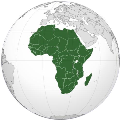 Map Of Africa - Men's Premium T-Shirt