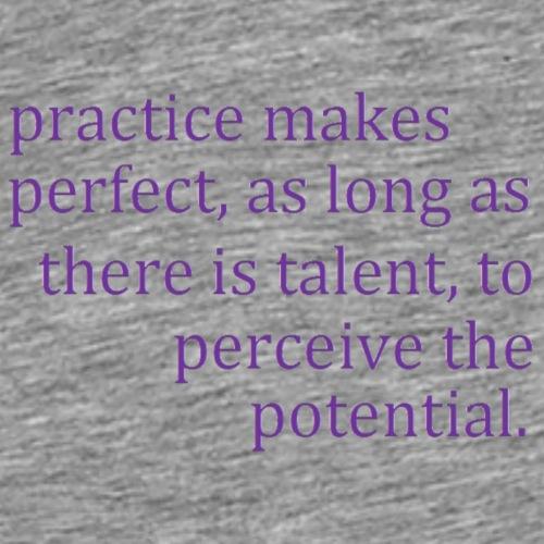 practice makes - Men's Premium T-Shirt