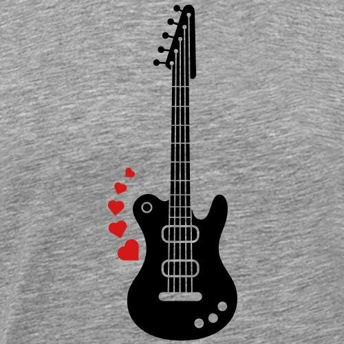 A Guitar for a Love Serenade - Men's Premium T-Shirt