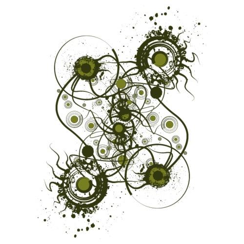 Organic Green Designer Graphic - Men's Premium T-Shirt