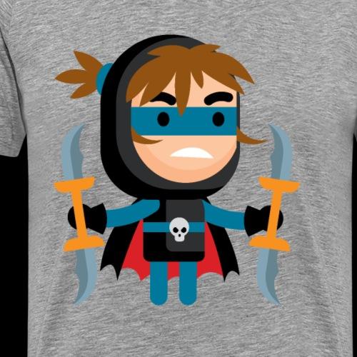 Dark Warrior Lvl 3 - Men's Premium T-Shirt