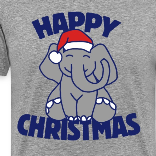 Happy Christmas Elephant - Men's Premium T-Shirt