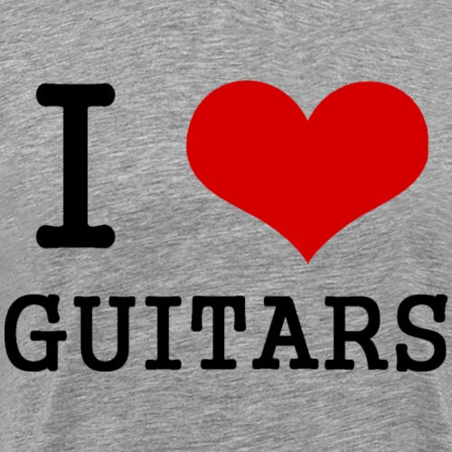 I love guitars - Men's Premium T-Shirt
