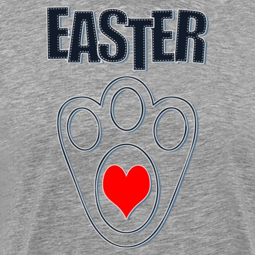 Easter Bunny Footprints, Easter Heart Bunny - Men's Premium T-Shirt
