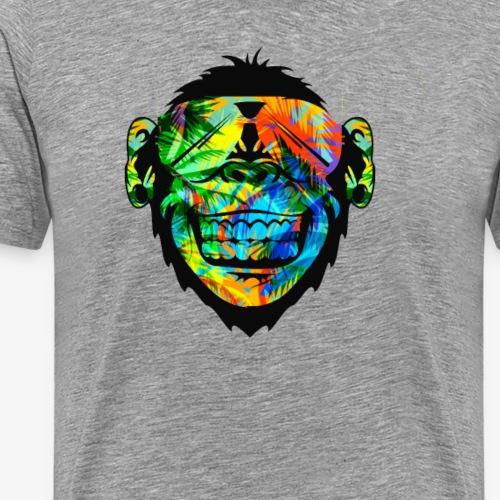Summer George Gainz Monkey Logo Limited Edition - Men's Premium T-Shirt