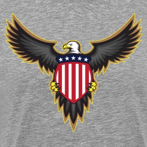 Patriotic American Bald Eagle - Men's Premium T-Shirt