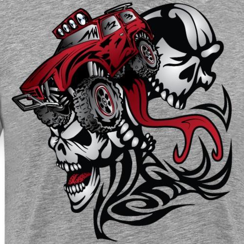 Skull Roller Truck - Men's Premium T-Shirt