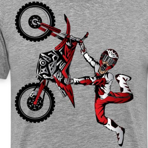 Stunt Dirt Biker - Men's Premium T-Shirt