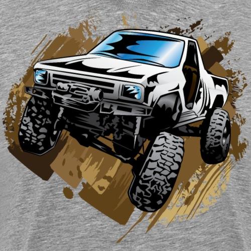 White Muddy Truck - Men's Premium T-Shirt