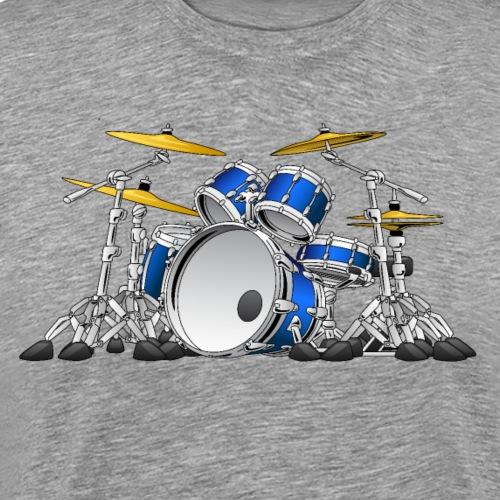 Drum Set Cartoon - Men's Premium T-Shirt