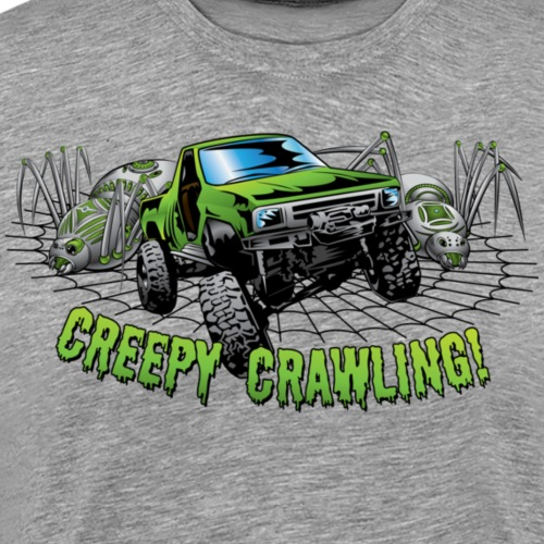 Creepy Truck Crawler blk web - Men's Premium T-Shirt