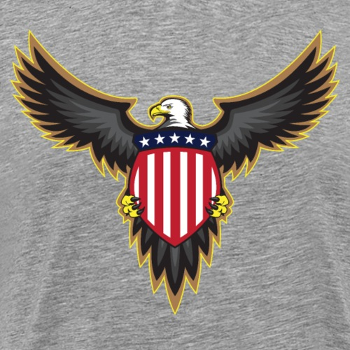 Patriotic American Bald Eagle - Men's Premium T-Shirt