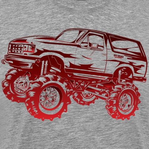 Mega Mud Ford Bronco Red - Men's Premium T-Shirt