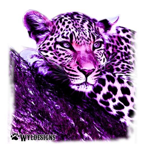 Leopard Cutout Purple - Men's Premium T-Shirt