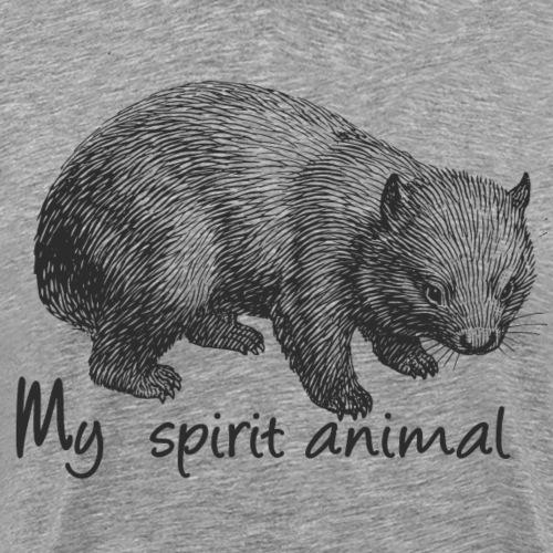 Wombat Spirit Animal - Men's Premium T-Shirt