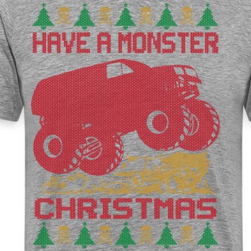 Christmas Monster Truck - Men's Premium T-Shirt