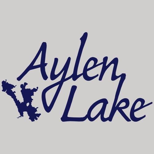 Aylen Lake_white ink - Men's Premium T-Shirt