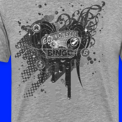 Vintage Cannonball Bingo Drip Purple - Men's Premium T-Shirt