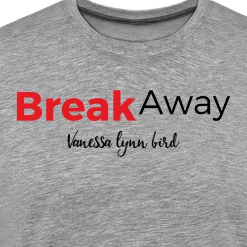 Break Away Red/Black Logo - Men's Premium T-Shirt