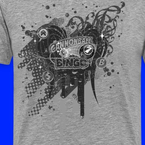 Vintage Cannonball Bingo Drip Purple - Men's Premium T-Shirt