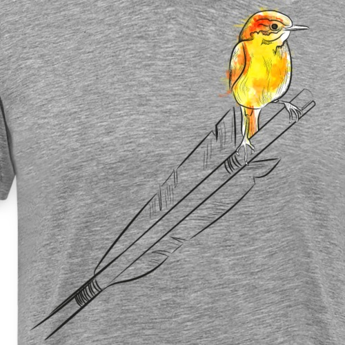 Arrow Bird (Archery by BOWTIQUE) - Men's Premium T-Shirt