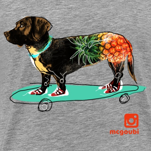 pineapple long dog - Men's Premium T-Shirt