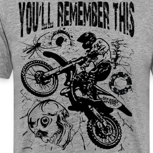 Remember Motocross - Men's Premium T-Shirt