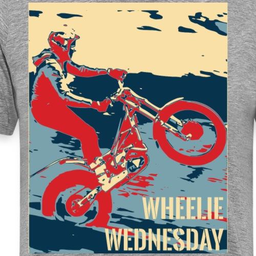 Wheelie Wednesday Trials Bike - Men's Premium T-Shirt