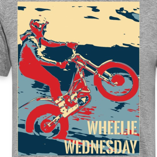 Wheelie Wednesday Trials Bike - Men's Premium T-Shirt